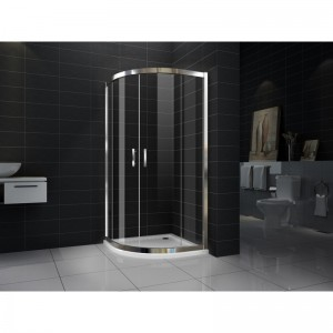 Verona 1000 X 1000 X 1950 New Curved Sliding Doors Shower Screen With Base  8 Mm